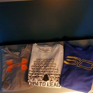 Set of 3 Under Armour short sleeve Sz YXL tshirt
